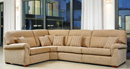 Rembrandt 3-Seater Corner Suite shown in Finsbury Nutmeg with Scatter Cushions in Rio Sandstone/Finsbury Nutmeg